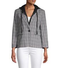 layered checker blazer