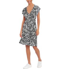 london times petite printed dress
