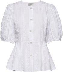 hevingz blouse hs20 blouses short-sleeved wit gestuz