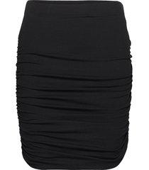 objluca pape skirt a ec sp kort kjol svart object