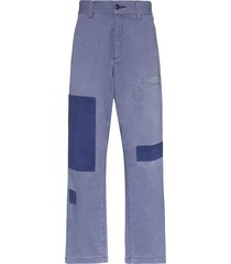neighborhood patchwork trousers - blue