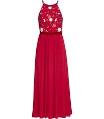 abito lungo ricamato (rosso) - bodyflirt