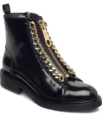 boots 7428 shoes boots ankle boots ankle boot - flat svart billi bi