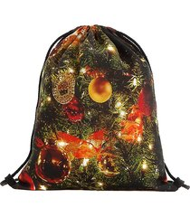 spalla con coulisse zaino natalizio borsa per le donne