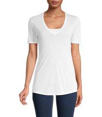helmut lang women's dynamic v-neck t-shirt - optic white - size s