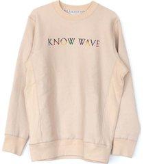 cream multi crewneck sweatshirt