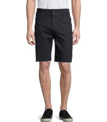 karl lagerfeld paris men's regular-fit striped shorts - indigo - size 32