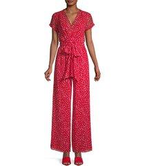 floral-print tie-waist jumpsuit