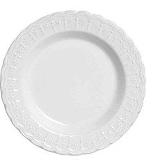 conjunto de pratos fundo nobre branco scalla