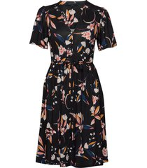eliva meadow belted v nk dress jurk knielengte blauw french connection