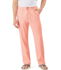 men's tommy bahama relaxed fit linen pants, size x-large - orange