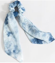 colleen tie-dye pony scarf - blue