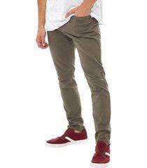 jeans skinny i verde - hombre corona