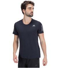 camiseta adidas own the run - masculina - azul escuro