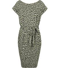 leopard jurk groen