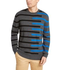 dkny men's regular-fit asymmetrical stripe sweater