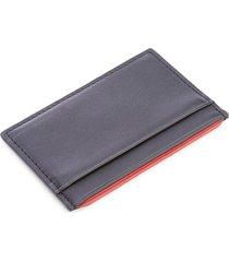 royce new york men's rfid blocking executive leather credit card case - black
