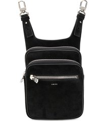 amiri double zip hip pouch - black