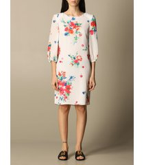 boutique moschino dress boutique moschino short dress in silk blend with floral pattern