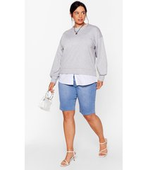 womens chill next time plus relaxed sweatshirt - grey
