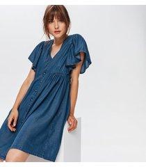 krótka sukienka z lyocellu