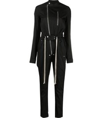 rick owens gary drawstring jumpsuit - black