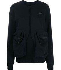a-cold-wall* overlock printed logo sweatshirt - black