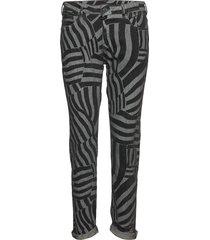 petit ami - black edge pantalon met rechte pijpen grijs scotch & soda