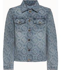 casablanca giacca in denim jacquard