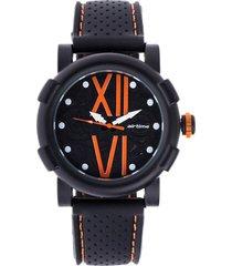 reloj negro-naranja virox airtime