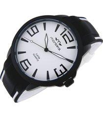 reloj blanco montreal combinado