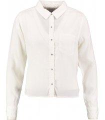 tommy hilfiger soepele ecru lyocell blouse