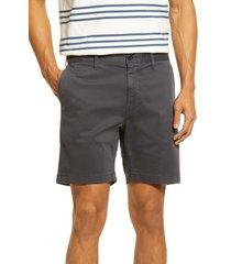 men's madewell chino shorts, size 30 - black