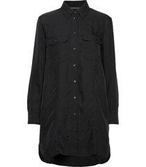 drapey utitlity shirt dress knälång klänning svart calvin klein jeans