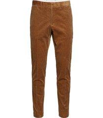 d1. slim cord slack casual broek vrijetijdsbroek bruin gant