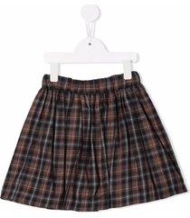 bonpoint plaid-check a-line skirt