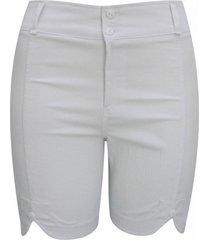 shorts pau a pique sarja branco - branco - feminino - dafiti
