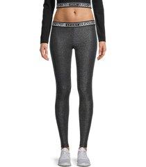 roberto cavalli sport women's metallic leggings - black - size m