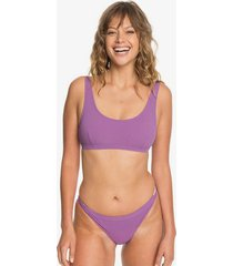 quiksilver womens rib knit bikini top