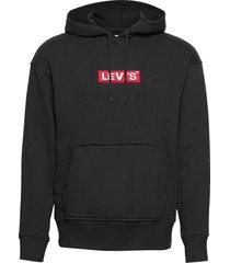 relaxed graphic hoodie boxtab hoodie trui zwart levi´s men