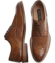 marco vittorio lucca cognac wingtip dress shoes