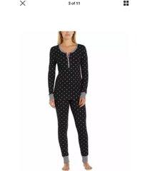 womens jane & bleecker 2 piece thermal pajama set shirt/pant new styles variety
