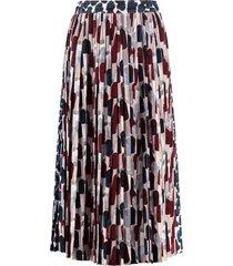 prada pleated wrap skirt