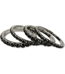 thalia sodi silver-tone 4-pc. set crystal bangle bracelets, created for macy's