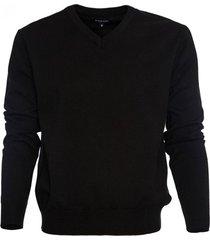 sweater cuello v algodón negro mcgregor