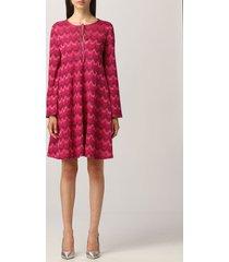 m missoni dress m missoni mini dress in zigzag knit