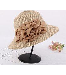 boho cappello di paglia con tesa larga da viaggio cappello a secchiello