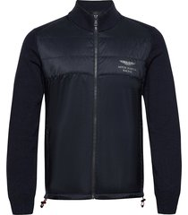 amr kntd track fzip sweat-shirts & hoodies fleeces & midlayers blå hackett london
