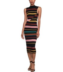 bcbgmaxazria striped midi sweater dress