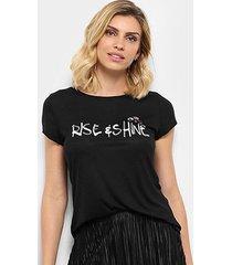 camiseta facinelli rise & shine feminina - feminino